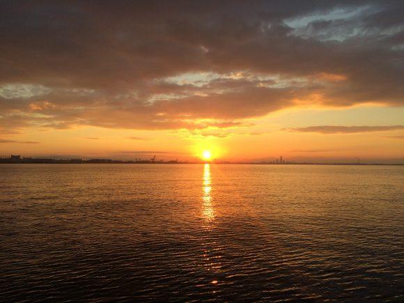南芦屋浜初日の出